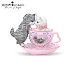 Thomas Kinkade Tea-Riffic Kitties Figurine Collection: Romantic Gift