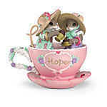 Charming Tails Teacups Of Hope Breast Cancer Charity Mouse Figurine Collection