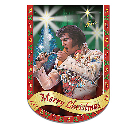 Home Decor Collectibles Elvis Presley Rockin' Through The Year Holiday Flag Collection: Elvis Home Decor