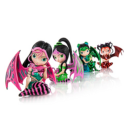 Fairy Dragonling Companions Figurine Collection: Dragon And Fairy Fantasy Art