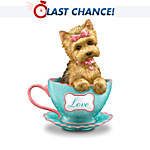 Brimming With Personali-Tea Yorkie Teacup Figurine Collection