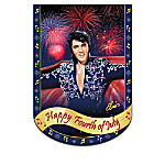 Elvis Presley Rocking' Through The Year Holiday Flag Collection