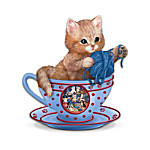 Cozy Kitten Teacup Figurine Collection