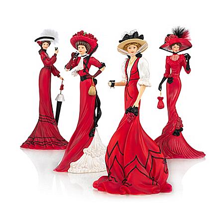 Elegant Women Figurine Collection: Elegance Of Coca-Cola