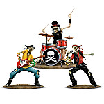 Rock Band Skeleton Figurine Collection: Snakes And Bones
