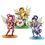 Rock Band Fantasy Art Fairy Figurine Collection: Jasmine And The Flaming Pixies