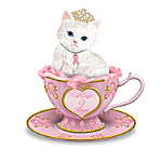 Breast Cancer Support Cat Figurine Collection: Purr-fectly Hopeful