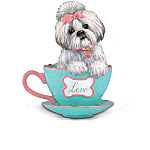 Shih Tzus With Personali-tea Figurine Collection