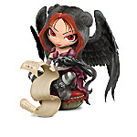 """Experience """"The Raven,"""" like never before - through the eyes of acclaimed fantasy artist Jasmine Becket-Griffith with her first-ever Gothic fairy figurine collection inspired by the classic Edgar Allen Poe masterpiece poem. Each fairy in this collection wears romantic Goth attire of flowing dresses, and striped tights - Jasmine's trademark. Your collection begins with Issue One, Once Upon a Midnight Dreary. Your collection continues with Issue Two, Darkness There and Nothing More, and additional Once Upon a Midnight Dreary Figurines, each a separate issue to follow.‡This fantasy artwork collection is a limited edition and available exclusively from The Hamilton Collection. Each fairy figurine is handcrafted of artist's resin and hand-painted with attention to detail like demure wide-eyes and delicate facial features. Fairies also feature raven-like black wings, just like the poem that inspired them. High demand is expected from Jasmine Becket-Griffith fans, so order now!"""