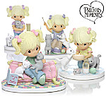 "Precious Moments Collectibles Precious Moments ""Paw Prints On My Heart"" Figurine Collection"