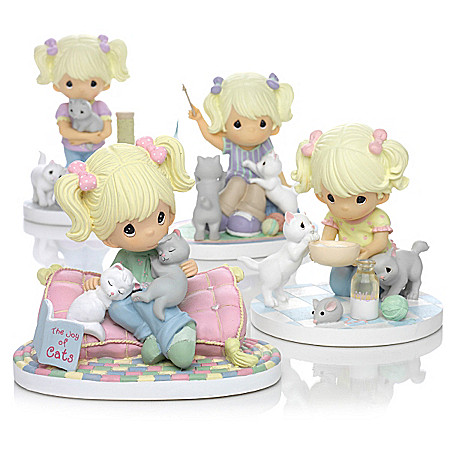"Precious Moments ""Paw Prints On My Heart"" Figurine Collection"