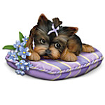 Pretty In Purple: Alzheimer's Research Charity Yorkie Figurine Collection