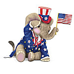 Peanuts Salute To America Elephant Figurine Collection