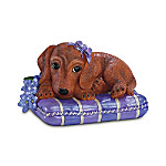 """""""Pretty In Purple"""" Alzheimer's Research Dachshund Figurine Collection"""