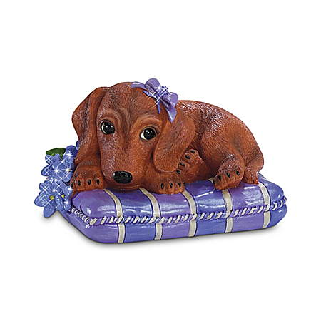 """Pretty In Purple"" Alzheimer's Research Dachshund Figurine Collection"