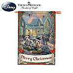 Disney's Mickey & Minnie Holiday Seasonal Flag Collection With Thomas Kinkade Artwork