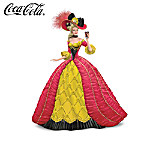 """""""Indulgent Dreams Of Coca-Cola"""" Coca-Cola Girl With Faberge-Style Gown Figurine Collection"""
