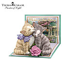Thomas Kinkade Tails Of Romance Cuddling Kitten Figurine Collection