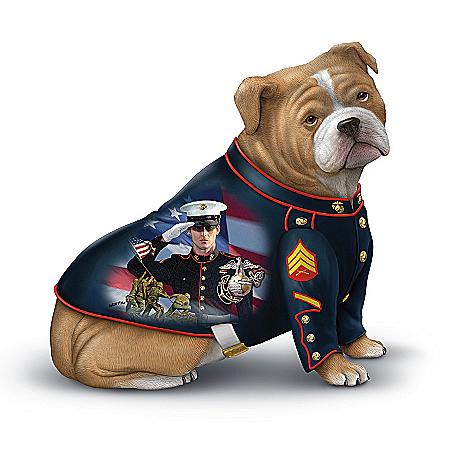 Devil Dog Salute To The USMC Figurine Collection