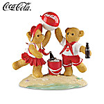 Seaside With Coca-Cola Teddy Bear Figurine Collection