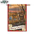 White-Tailed Deer Wildlife Art Flag Collection