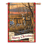 White-Tailed Deer Wildlife Art Flag Collection - Wild Tails Holiday