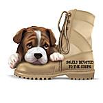 USMC Bulldog Figurine Collection: All Paw Salute