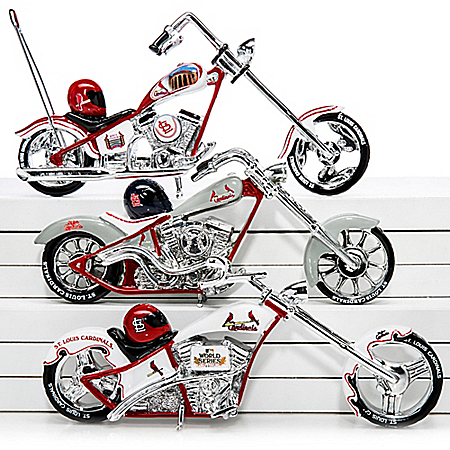 The Bradford Exchange Online - St. Louis Cardinals 2011 World Series Champions Chopper Motorcycle Figurine Collection Photo