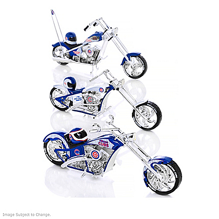 MLB Chicago Cubs Motorcycle Figurine Collection