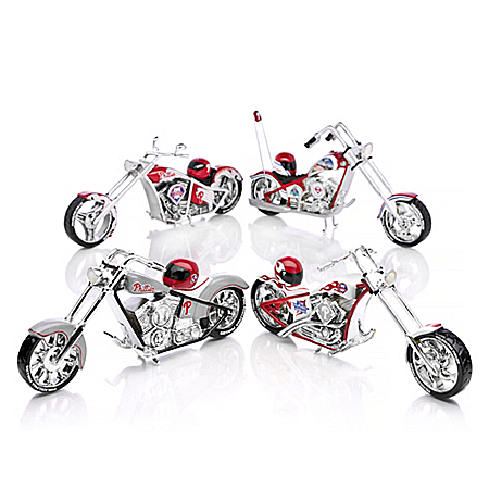 MLB Philadelphia Phillies Motorcycle Figurine Collection