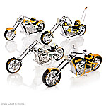 NFL Green Bay Packers Motorcycle Figurine Collection