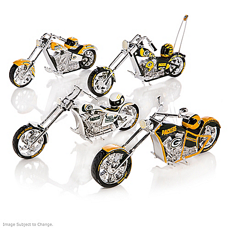 The Bradford Exchange Online - NFL Green Bay Packers Motorcycle Figurine Collection Photo