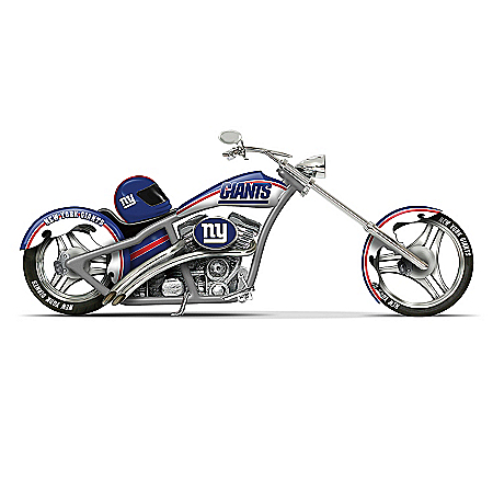 NFL New York Giants Motorcycle Figurine Collection
