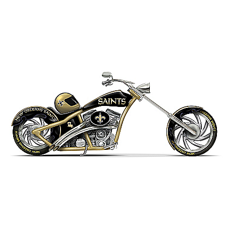 The Bradford Exchange Online - NFL New Orleans Saints Motorcycle Figurine Collection Photo