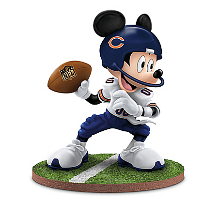 Disney Character Chicago Bears Figurine Collection: Mickey's Football Fun-atics