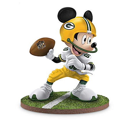 Disney NFL Green Bay Packers Figurine Collection: Football Fun-atics