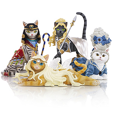 The Bradford Exchange Online - Divine Feline Cat Lover Figurine Collection Photo
