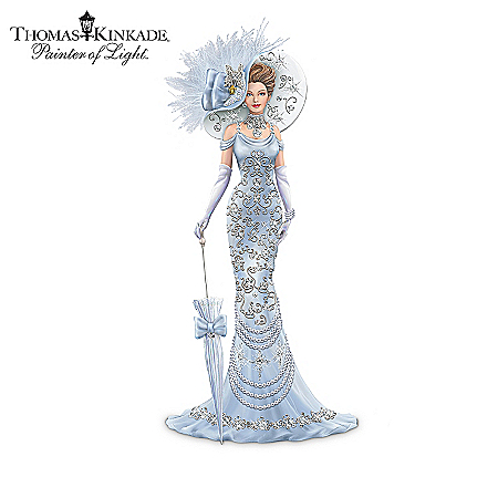 Thomas Kinkade Elegant Lady Figurine Collection: Crystals Of Elegance