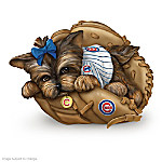 Yorkie Chicago Cubs Fan Figurine Collection