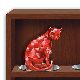 Crystalline Cat Figurines Inspired By Rare Healing Gems