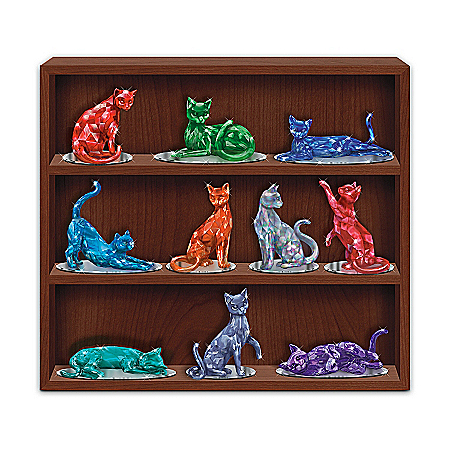 The Bradford Exchange Online - Figurine Collection: Rarest Gem Cats Of The World Photo