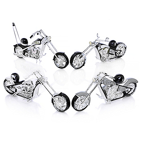 The Bradford Exchange Online - MLB Chicago White Sox Motorcycle Figurine Collection: Home Run Racer Photo