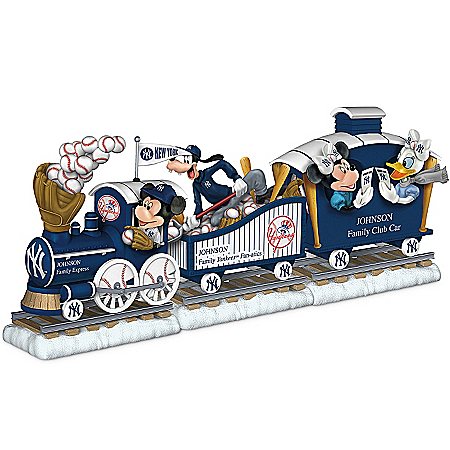 Disney MLB New York Yankees Personalized Train Figurine Collection