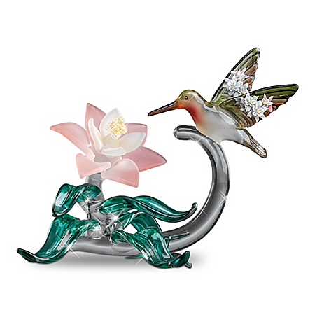 Art Glass Hummingbird Figurine Collection By Lena Liu: Elegant Companions