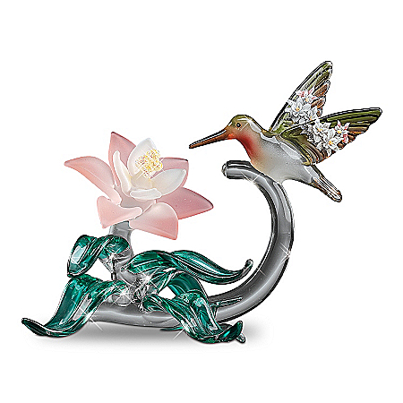 Lena Liu Plates Art Glass Hummingbird Figurine Collection By Lena Liu: Elegant Companions