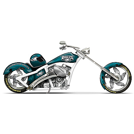 NFL Philadelphia Eagles Motorcycle Figurine Collection: Eagles Cruiser