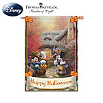 Disney's Mickey & Minnie Holiday Seasonal Flag Collection With Thomas Kinkade Artwork