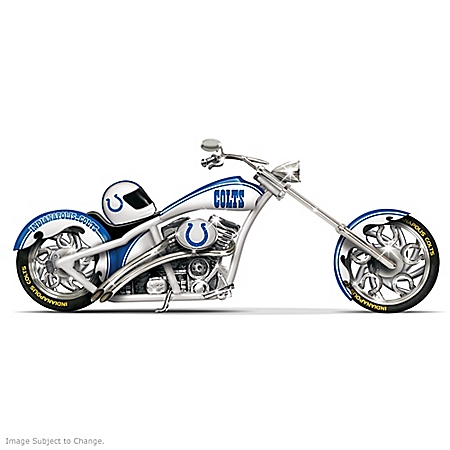 NFL Indianapolis Colts Motorcycle Figurine Collection: Colts Cruiser