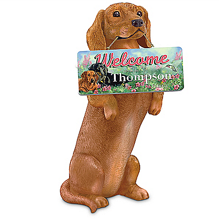 Personalized Dachshund Sculpture Collection: Furr-Ever Welcomed