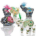 Figurines - Elephants Of Good Fortune Figurine Collection